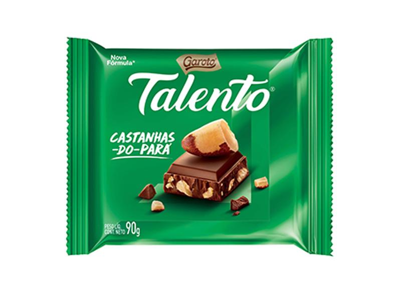 barra de chocolate talento castanha do para